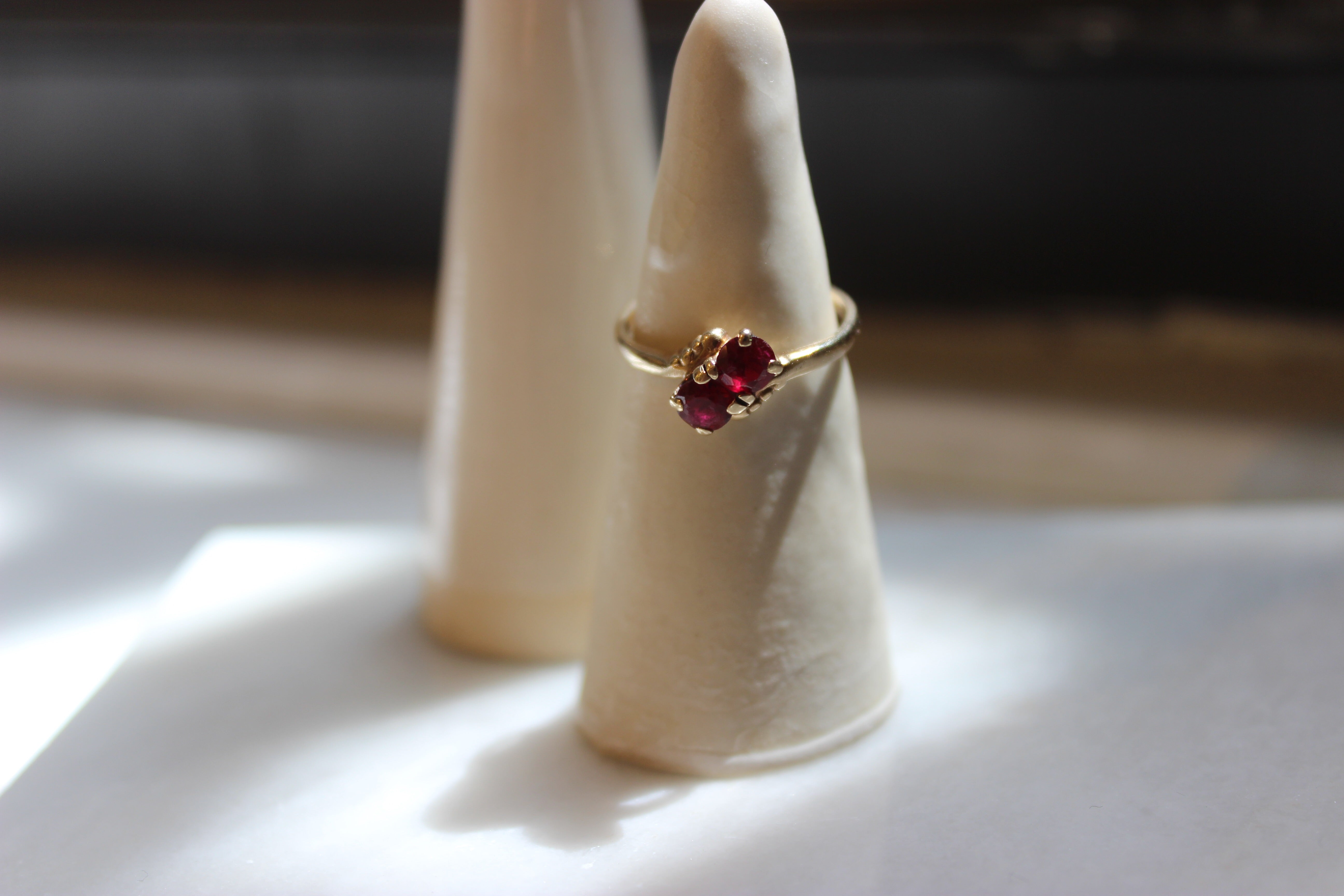 Vintage 10k Yellow Gold Ruby Ring