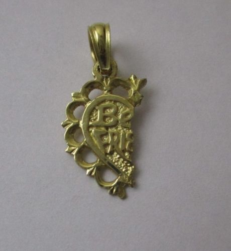 Vintage 14K Half Best Friend Pendant
