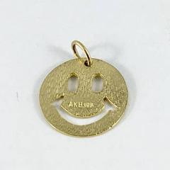 Vintage 10k Smiley Face Pendant