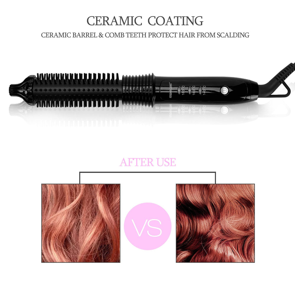 Hair Curling Iron Brush Electric Hair Curler