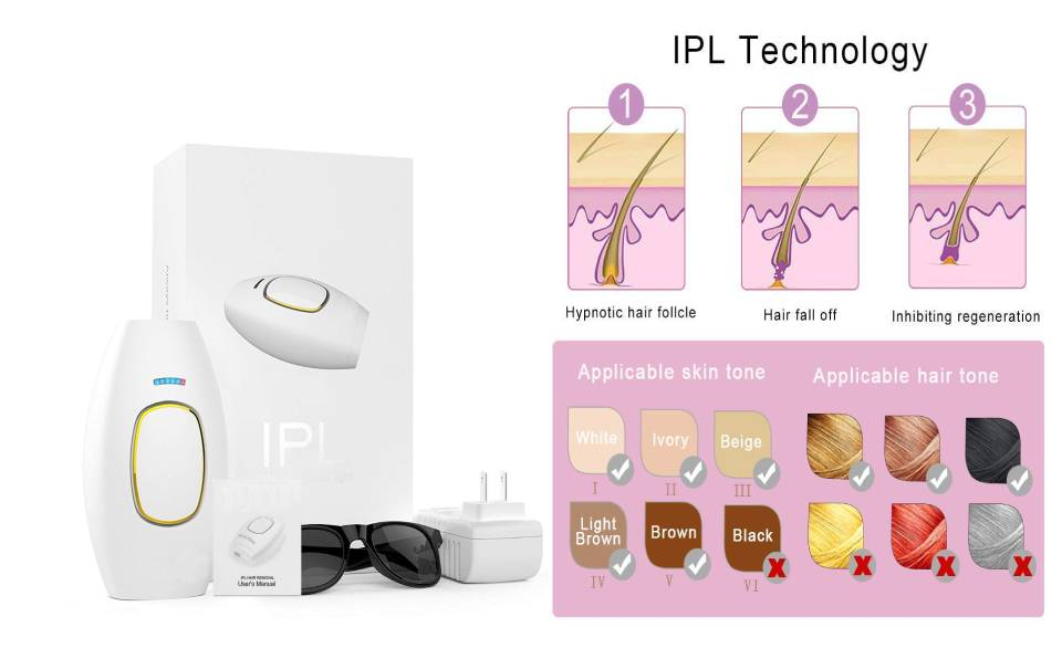 Home & Spa Use Professional IPL Hair Removal Device