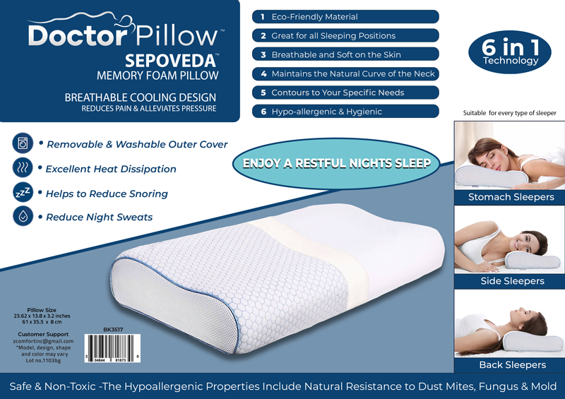 DOCTOR PILLOW - SEPOVEDA Memory Foam Pillow