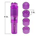 Sonique Speedy Pocket-Sized Vibrator with Attachments