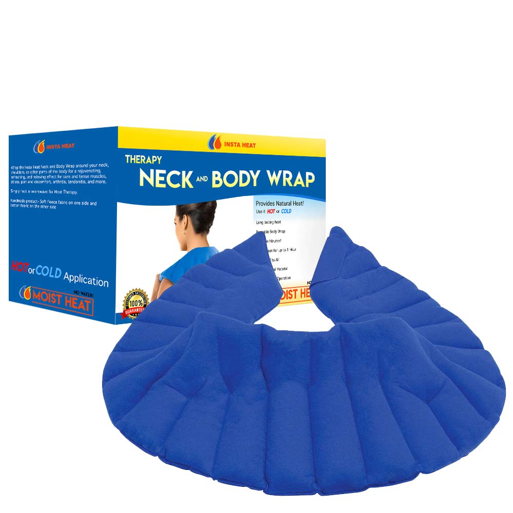 Insta Heat Therapeutic Neck and Body Wrap - Hot and Cold Long Lasting with Moist Heating
