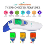 Digital Ear and Forehead Thermometer for Kids with Infrared Technology