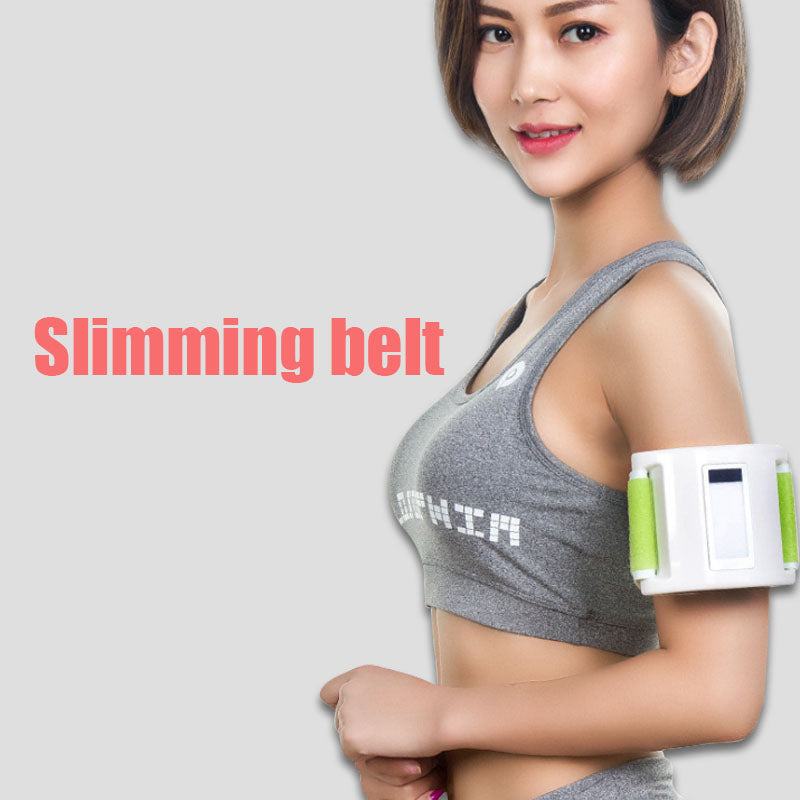 Electric Body Slimming Fitness Vibrating Massager Belt - Works to Burn Waist, Leg, Belly Fat