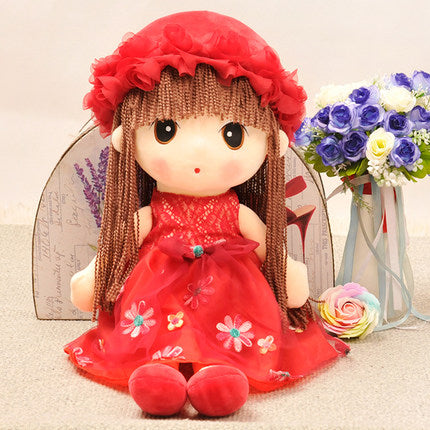 Flower Fairy  doll cute little girl doll plush Stuffed Toys princess children's sleep 63 cm TB