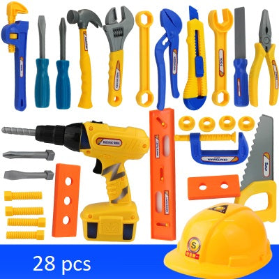 Children's Toolbox Set Maintenance Tools Baby Repair Tools Screwdriver Drill Play House Kids Baby Toys TB