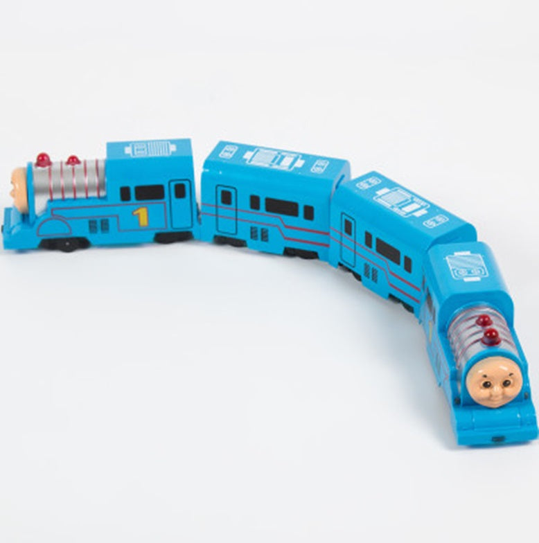 Universal Queen's Electric Universal Harmony Train Mini Toy Simulation Thomas Highspeed Train Model with batteries 10 cm- Cars- TB