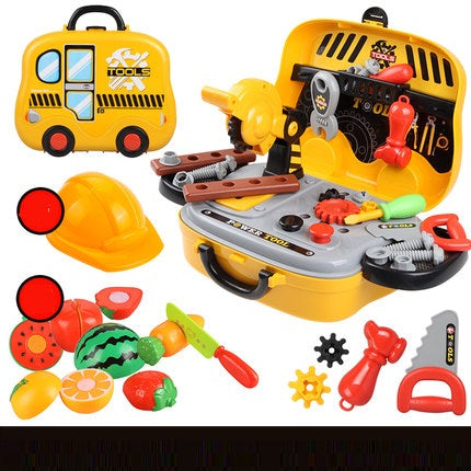 Children's toolbox toy set screwdriver repair tool - kids blocks TB