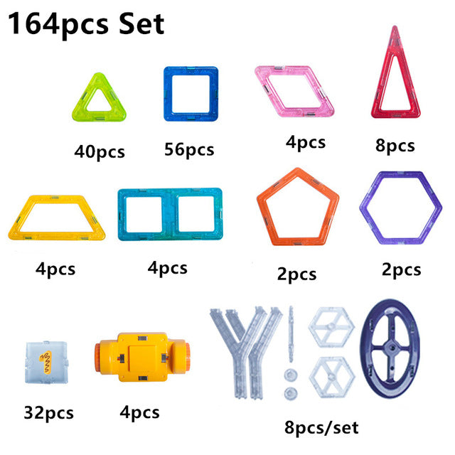 164pcs-64pcs Mini Magnetic Construction Set Blocks