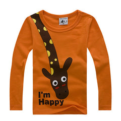 Long Sleeve Giraffe I'm Happy Kids - Clothes ***