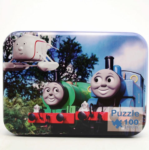 Wooden Puzzles with Iron Box Cartoon