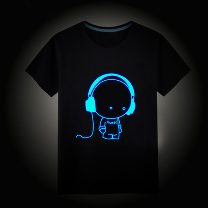 Glow in The Dark 100% cotton T-Shirt - Clothes ***