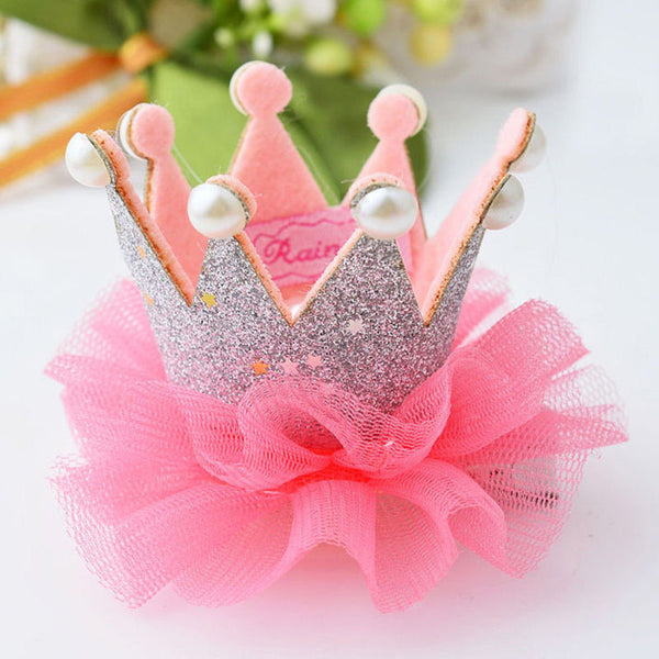 1 pcs Lovely Cute Girls Princess Crown Hair Clip - Girls Clothing