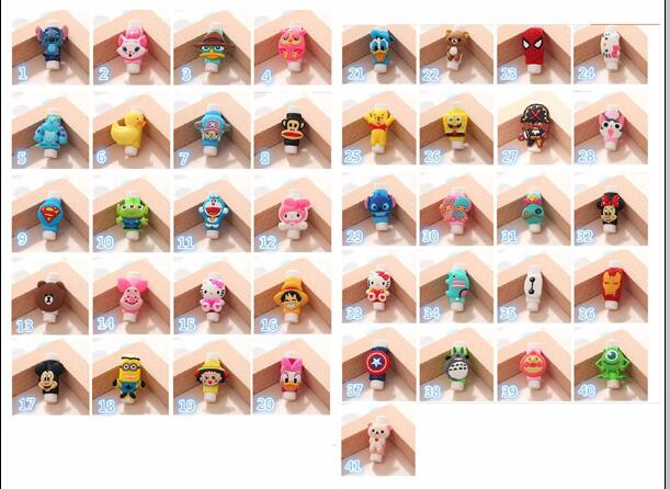 Cute Cartoon Cable Protector  For iPhone USB Charging Cable mobile accessories