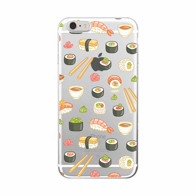 Food Fruit Coffee Pineapple Lemon Banana Cactus Strawberry Sushi Case fundas For Samsung Galaxy smartphone covers