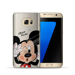 Mickey Minnie Case For Coque Samsung Galaxy Grand Prime S4 S5 S6 S7 Edge S8 Plus J2 J3 J5 J7 A3 A5 2016 2015 2017 smartphone covers