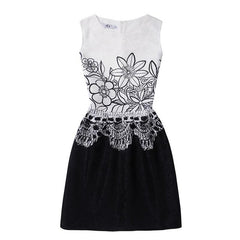 Sleeveless Floral Girls Dresses - Girls Clothes