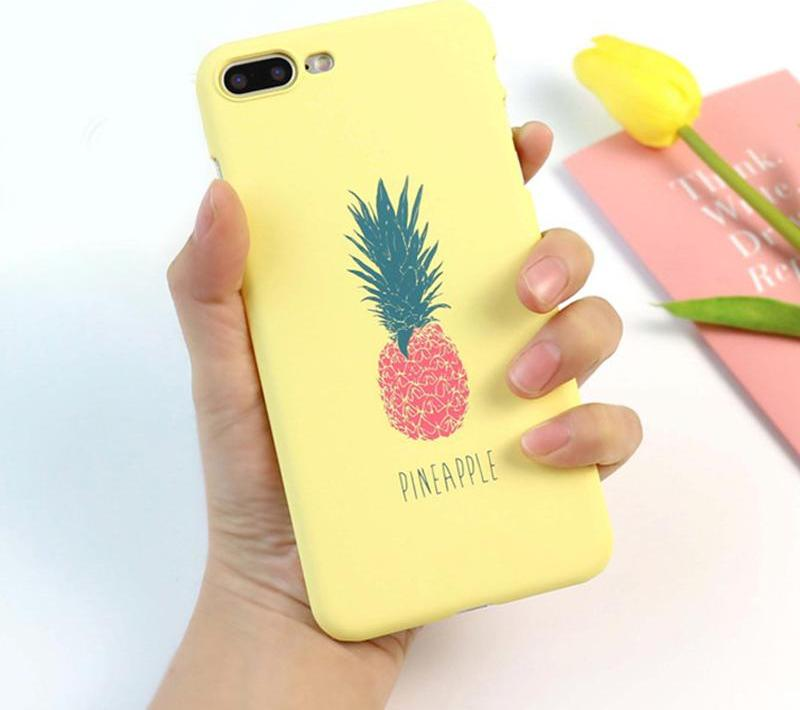 Pineapple Phone Case For iphone 5S Case Hard Ultra thin Cases Cute Letter Back Cover For iphone 6 6S 7 Plus smartphone covers