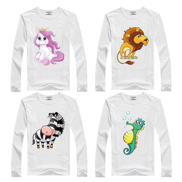 Long Sleeves  Animal T-Shirt for Kids- Clothes ***