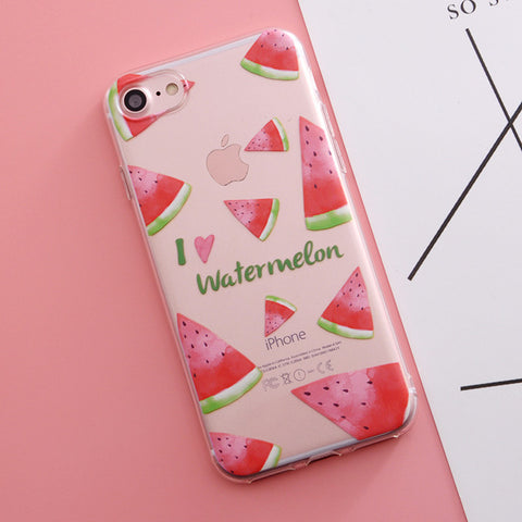 For iphone 5 5s SE 6 6s 6/7/8 plus X Flower Plants Fruit Cactus Leaves Cat Dog Silicone Phone Case For iphone 7 smartphone covers