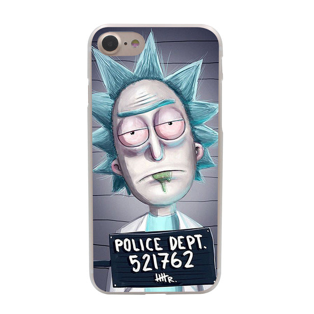Rick and Morty Season Hard Phone Cover Case for Apple iPhone 10 X 8 7 6 6s Plus 5 5S SE 5C 4 4S Coque Shell smartphone covers