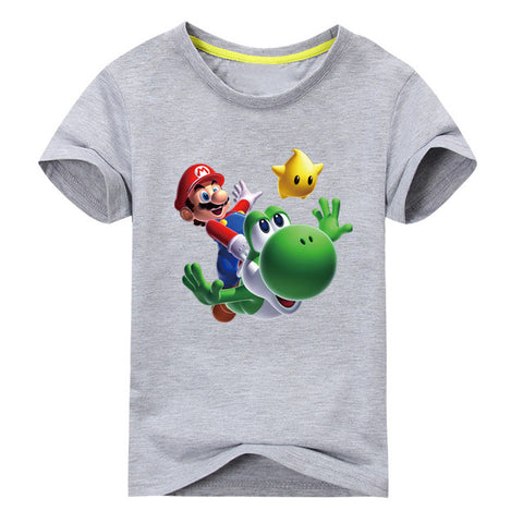 Mario Short Sleeve T-shirt For Boy or  Girl - Clothes ***
