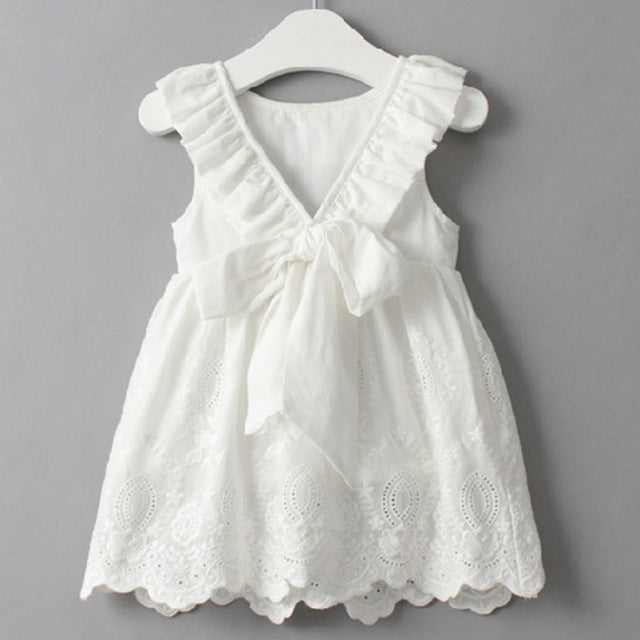 Sleeveless Floral Girls Party Dress- Girls Clothes