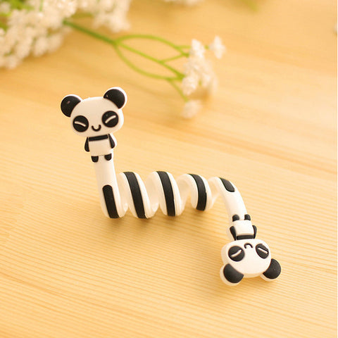 Cartoon Earphone Cable Winder Protector for IPhone 5 5s 6 6s 7 8 X Plus Computer PC Cable Clip mobile accessories