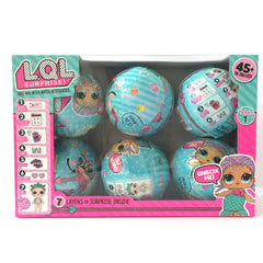 6pcs/set Series 1 Surprise Doll Color Change Egg Ball Toys Dress Up Toy - Girl Figures