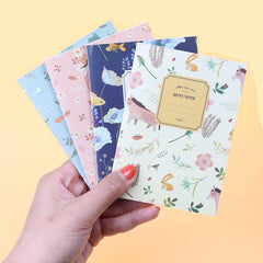 4PCS/Set Cute Mini Vintage Flower Notebooks