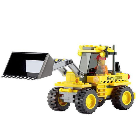 Construction Road Roller Forklift Truck Tractor Sweeper Building Blocks