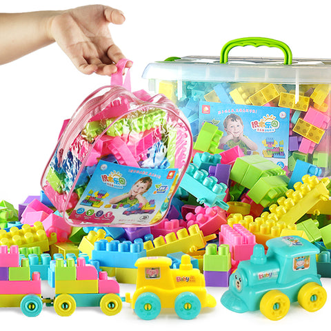 Children's plastic puzzle assembling building blocks for boys and girls and babies TB