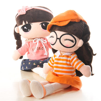 adorable doll cute plush Stuffed Toys girl puppet children 55cm  TB