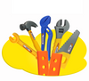 Image of Children's Toolbox Set Maintenance Tools Baby Repair Tools Screwdriver Drill Play House Kids Baby Toys TB