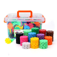Snowflake puzzle blocks  600 pcs with storage box assembled toys TB