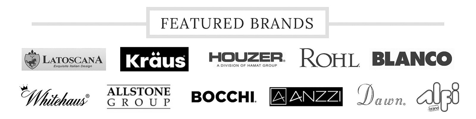 Featured Brands - The Sink Boutique
