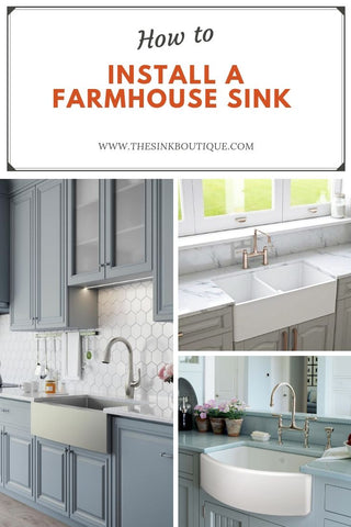 How to install a farmhouse sink | The Sink Boutique