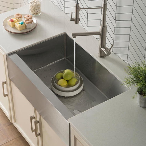 "33"" Stainless Steel Farmhouse Sink by Kraus 