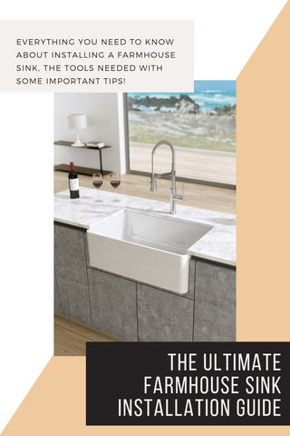 The Ultimate Farmhouse Sink Installation Guide | The Sink Boutique