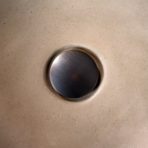 "Native Trails 1.5"" Push to Seal Dome Drain in Oil Rubbed Bronze, DR130-ORB"