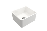 "BOCCHI Classico 20"" Fireclay Farmhouse Apron Single Bowl Kitchen Sink, White, 1136-001-0120 