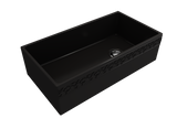 "BOCCHI Vigneto 36"" Fireclay Farmhouse Apron Single Bowl Kitchen Sink, Matte Black, 1355-004-0120 