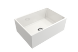 "BOCCHI Contempo 27"" Fireclay Farmhouse Apron Single Bowl Kitchen Sink, White, 1356-001-0120 