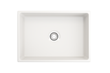 "BOCCHI Contempo 27"" Fireclay Farmhouse Apron Single Bowl Kitchen Sink, White, 1356-001-0120 Top View 