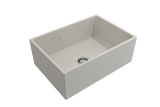 "BOCCHI Contempo 27"" Fireclay Farmhouse Apron Single Bowl Kitchen Sink, Biscuit, 1356-014-0120 