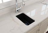"BOCCHI Sotto 12"" Fireclay Undermount Single Bowl Bar Sink, Matte Black, 1358-004-0120 Lifestyle Image 