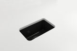 "BOCCHI Sotto 12"" Fireclay Undermount Single Bowl Bar Sink, Matte Black, 1358-004-0120 Straight View 