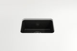 "BOCCHI Sotto 12"" Fireclay Undermount Single Bowl Bar Sink, Matte Black, 1358-004-0120 Top View 